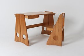 Desk and Chair Set By Gilbert Marklund