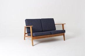 Rare Hans J Wegner Ge233 Two Seater Sofa In Beech