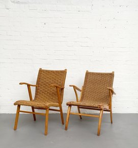 Rope Seat And Beech Frame V&D Chairs