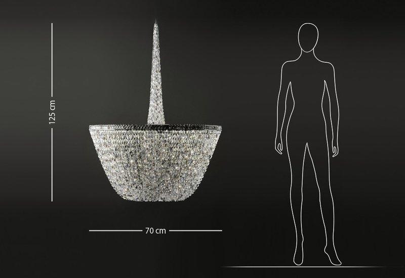 Pure white chandelier cryst treniq 6
