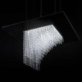 Waterfall Square Chandelier - Cryst - Treniq