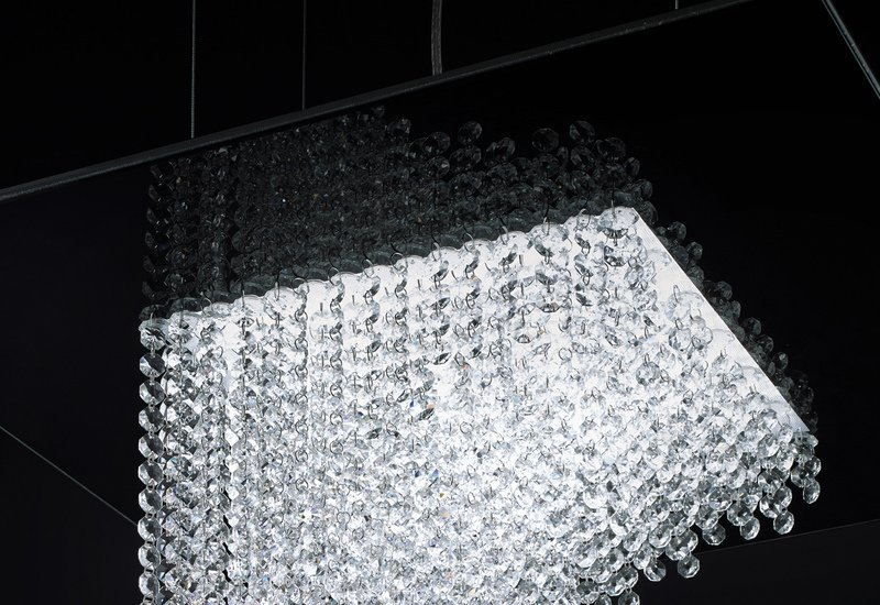 Waterfall square chandelier cryst treniq 2