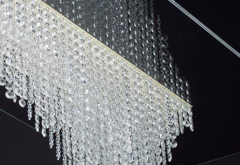 Waterfall square chandelier cryst treniq 4