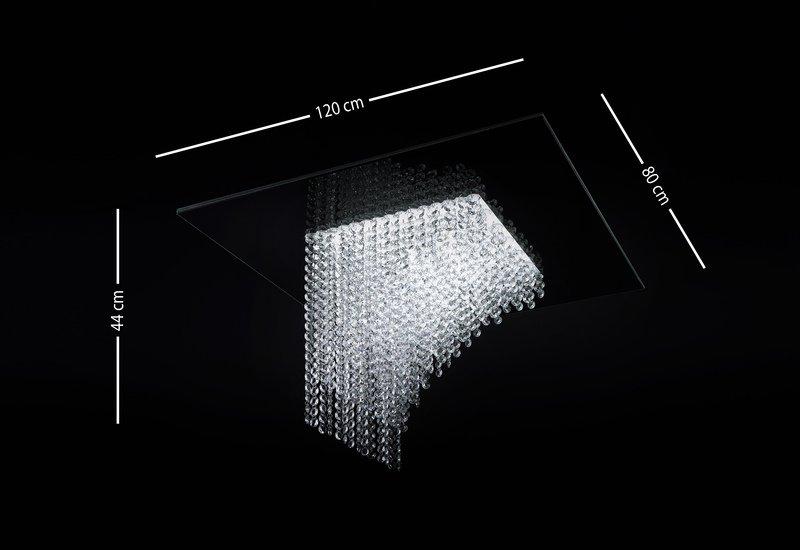 Waterfall square chandelier cryst treniq 7