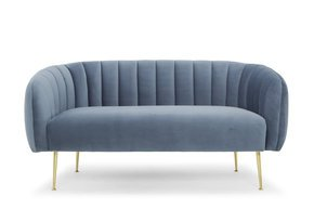Two-Seater-Sofa-In-Dusky-Blue,-Gold-Legs_Calvers-+-Suvdal_Treniq_0