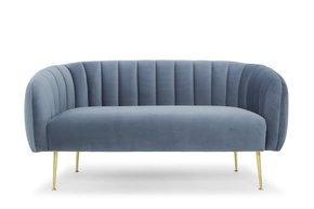 Two-Seater-Sofa-In-Dusky-Blue,-Gold-Legs_Calvers-+-Suvdal_Treniq_0