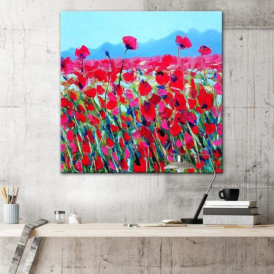 The poppy fields painting by emma bell united interiors treniq 1 1531099502746