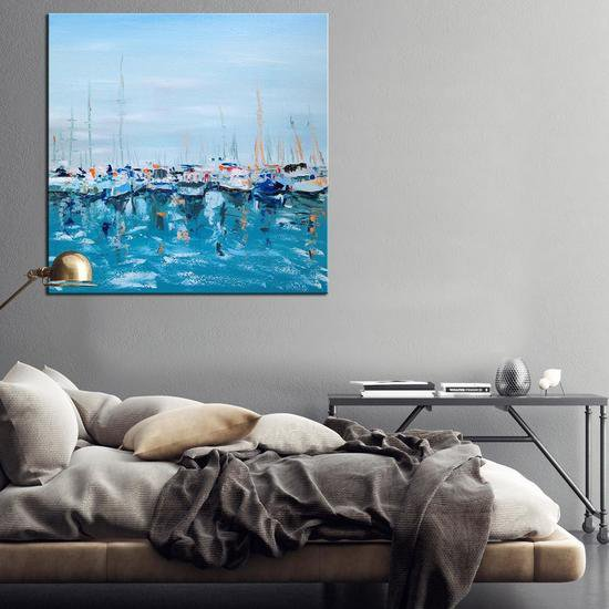 Flotilla painting by emma bell united interiors treniq 1 1531099763169