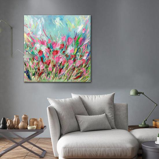 Sunday blooms painting by emma bell united interiors treniq 1 1531100270749
