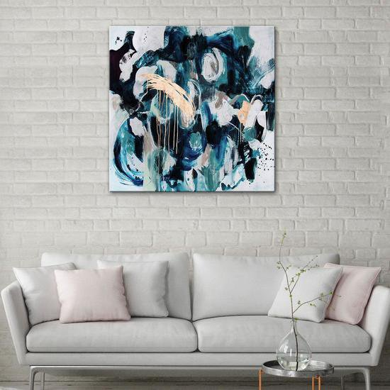 The blue brass painting by julie robertson united interiors treniq 1 1531100891904