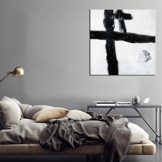 Want for black lines painting by julie robertson united interiors treniq 1 1531101069419