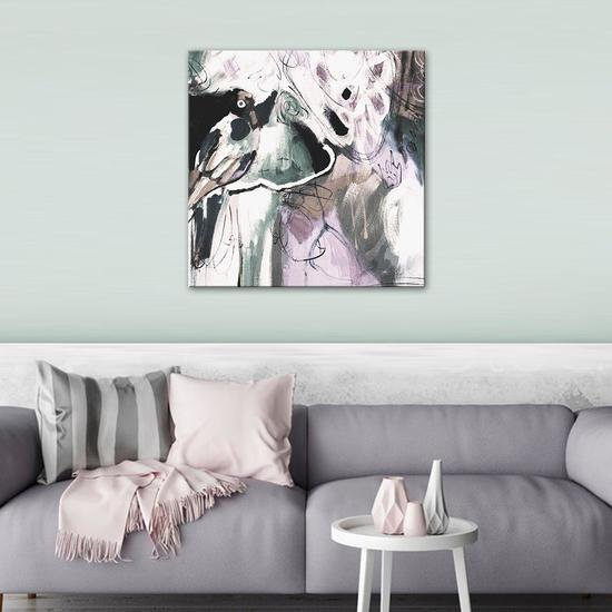 Bird is king painting by julie robertson united interiors treniq 1 1531101583788
