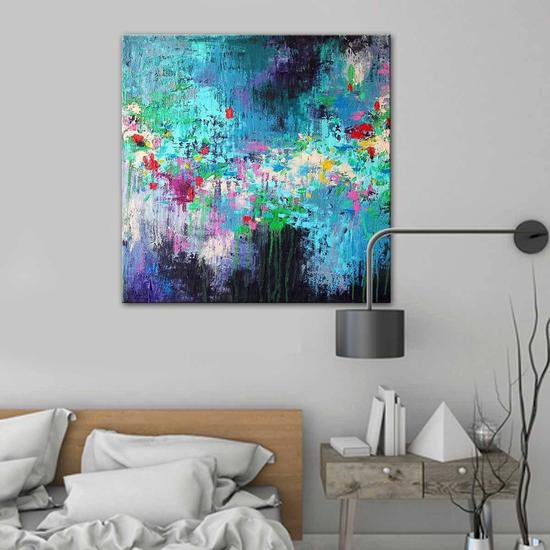 Secret garden painting by belinda nadwie united interiors treniq 1 1531107731616