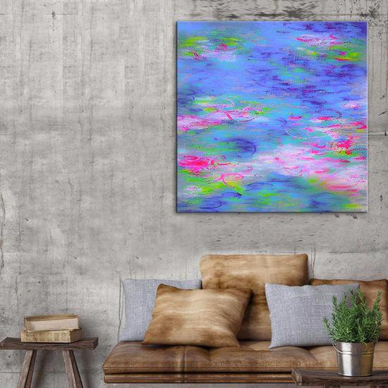 Summer lily painting by belinda nadwie united interiors treniq 1 1531109100540
