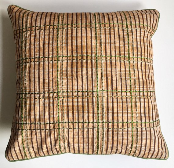 Multicoloured hand block printed and embroidered cushion cover anokha collection treniq 1 1532096751272