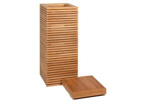 Modulo-Pedestal-Natural-Teak-Square-Tall-Polystone-Indoor-Planter-_Get-Potted.Com_Treniq_0