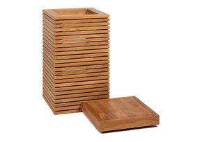 Modulo-Pedestal-Natural-Teak-Square-Small-Polystone-Indoor-Planter-_Get-Potted.Com_Treniq_0