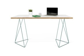 Flow-Desk-White-Plywood-And-Green-Feet_Tema-Home_Treniq_0