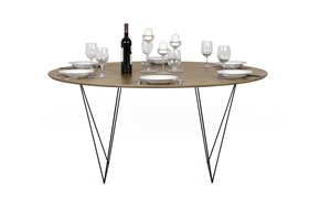 Row-150-Dining-Table-Walnut-And-Black-Legs_Tema-Home_Treniq_0
