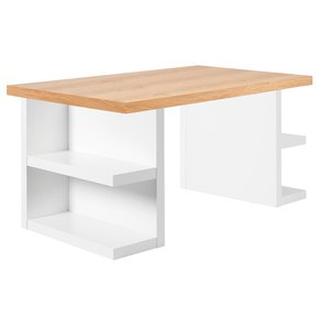 Multi-Desk-With-Storage-Legs-160cm-Oak-And-White_Tema-Home_Treniq_0