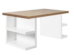 Multi-Desk-With-Storage-Legs-160-Cm-Walnut-And-White_Tema-Home_Treniq_0