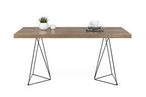 Multi-Desk-With-Trestle-Legs-160cm-Walnut-And-Black_Tema-Home_Treniq_0