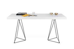 Multi-Desk-With-Trestle-Legs-160cm-White-And-Black_Tema-Home_Treniq_0
