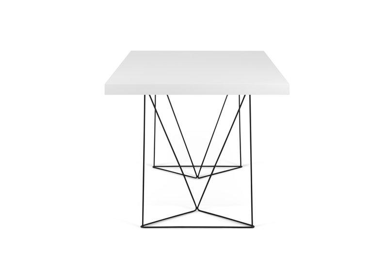 Multi desk with trestle legs white and black temahome treniq 1 1533207537705
