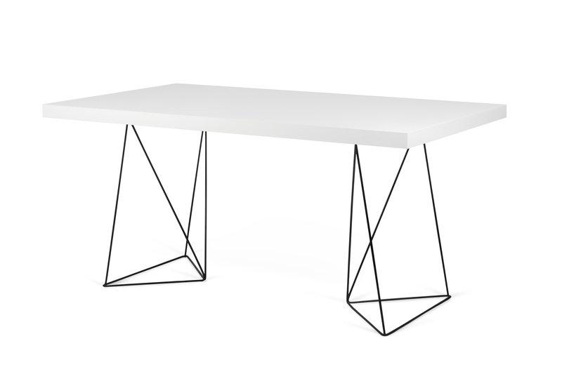 Multi desk with trestle legs white and black temahome treniq 1 1533207537709