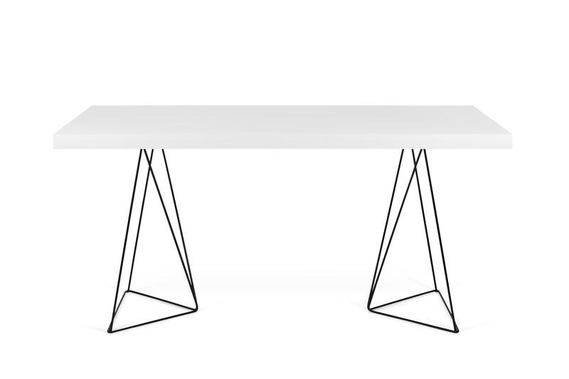 Multi desk with trestle legs white and black temahome treniq 1 1533207537703