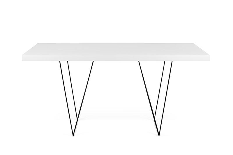 Multi desk with trestle legs white and black temahome treniq 1 1533207537707