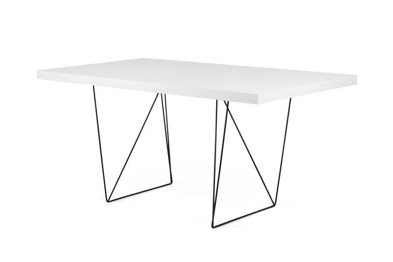 Multi desk with trestle legs white and black temahome treniq 1 1533207537710