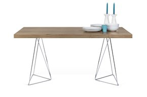Multi-Desk-With-Trestle-Legs-160cm-Walnut-And-Chrome_Tema-Home_Treniq_0
