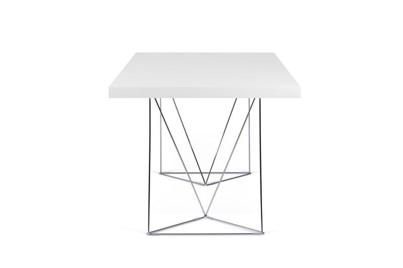 Multi desk with trestle legs 160cm white and chrome temahome treniq 1 1533207856566