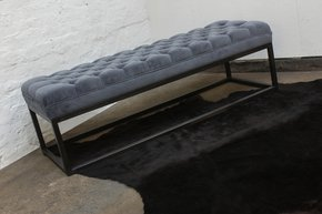 Hana-Velvet-Deep-Buttoned-Grey-Velvet-And-Box-Section-Pipe-Bench/Footstool_Urban-Grain_Treniq_0