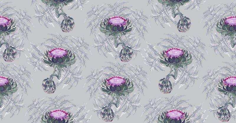 Carciofi forest green and magenta wallpaper ailanto design by amanda ferragamo treniq 1 1533703100704
