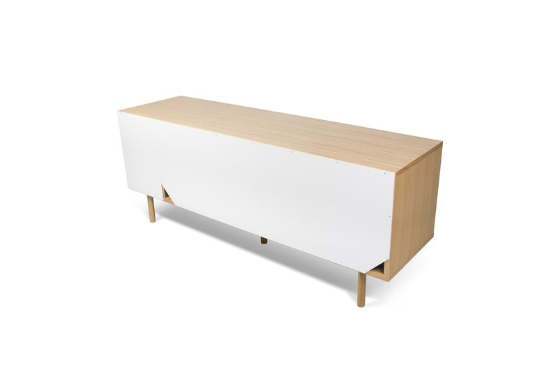 Dann sideboard 165 in oak with white and grey doors and wooden legs temahome treniq 1 1533909748639