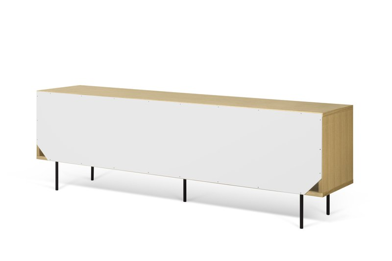 Dann sideboard 201 in oak with white and grey doors and metalic legs temahome treniq 1 1533910026367