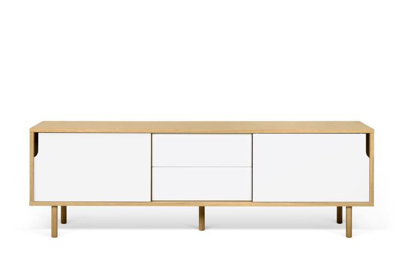 Dann sideboard 201 in oak with white doors and wooden legs temahome treniq 1 1533910176724
