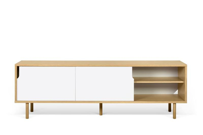 Dann sideboard 201 in oak with white doors and wooden legs temahome treniq 1 1533910176728