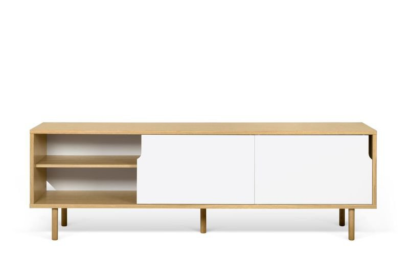 Dann sideboard 201 in oak with white doors and wooden legs temahome treniq 1 1533910176730