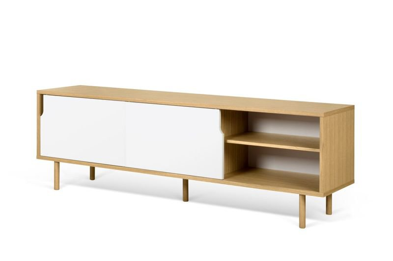 Dann sideboard 201 in oak with white doors and wooden legs temahome treniq 1 1533910176720