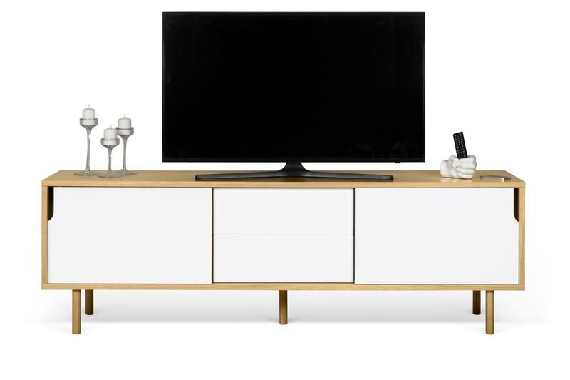 Dann sideboard 201 in oak with white doors and wooden legs temahome treniq 1 1533910176734