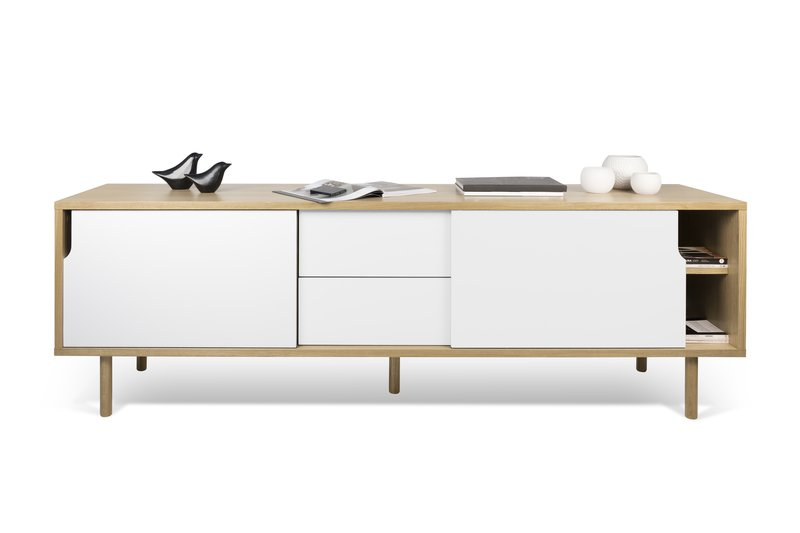 Dann sideboard 201 in oak with white doors and wooden legs temahome treniq 1 1533910176736