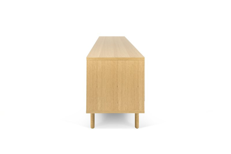 Dann sideboard 201 in oak with white doors and wooden legs temahome treniq 1 1533910179779