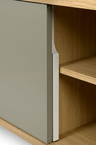 Dann cupboard with white and grey doors and wooden legs temahome treniq 1 1533910491844