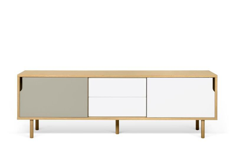 Dann sideboard 201 with white and grey doors and wooden legs temahome treniq 1 1533910611215