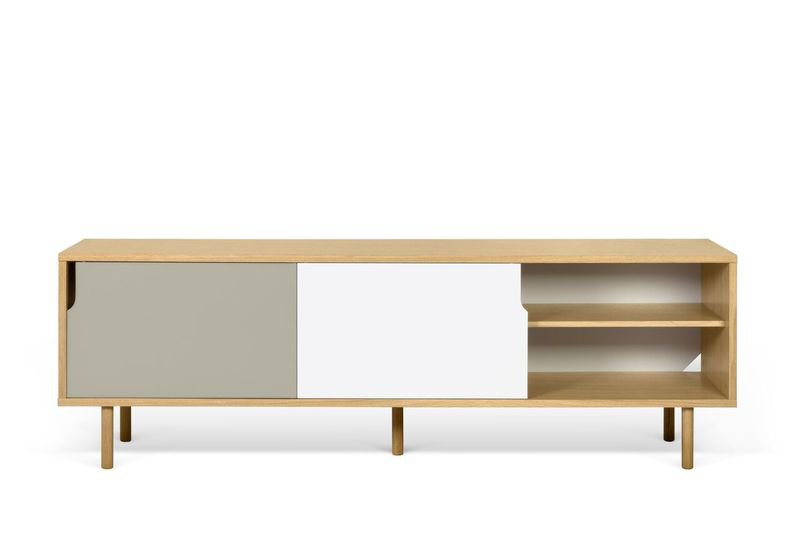 Dann sideboard 201 with white and grey doors and wooden legs temahome treniq 1 1533910611217
