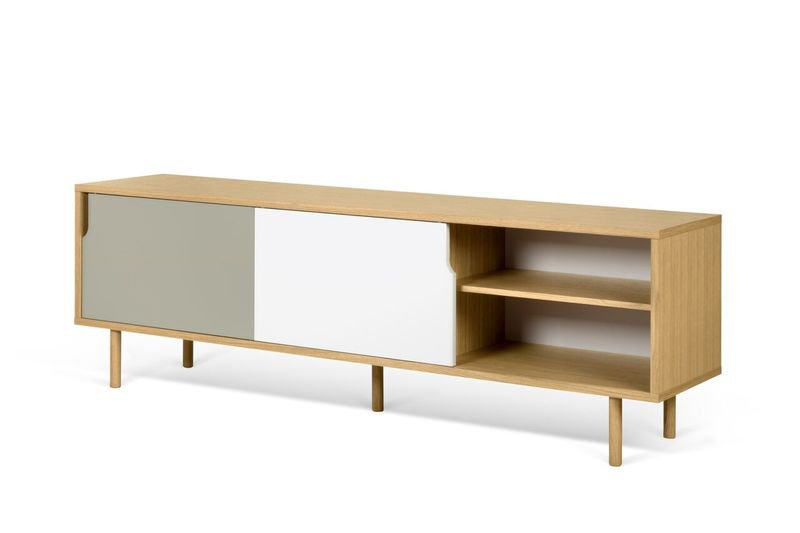 Dann sideboard 201 with white and grey doors and wooden legs temahome treniq 1 1533910611213
