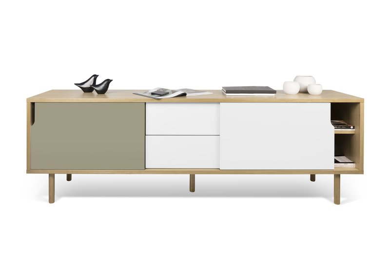 Dann sideboard 201 with white and grey doors and wooden legs temahome treniq 1 1533910611225